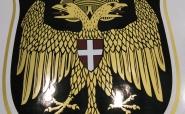Fertiges, mehrschichtig zusammengesetztes Wappen