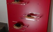 Beschriftung Objekte mit konturgeplotteter Klebefolie