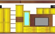 Plan - Maßgefertigter Wohnzimmerverbau