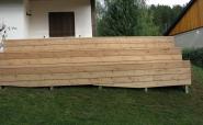 Terrasse aus Lärchenholzdielen