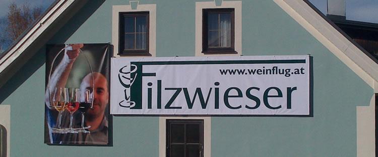 Planen inkl. Befestigung ab der Hauswand beim Gathof Filzwieser