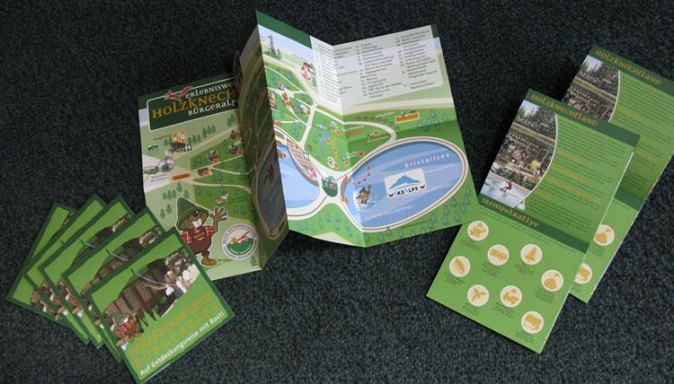 Infotafeln und Folder für Holzknechtland