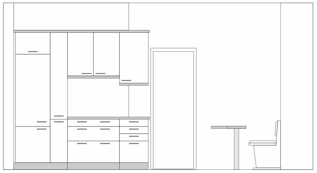 kleine k che mit viel stauraum internettischler. Black Bedroom Furniture Sets. Home Design Ideas