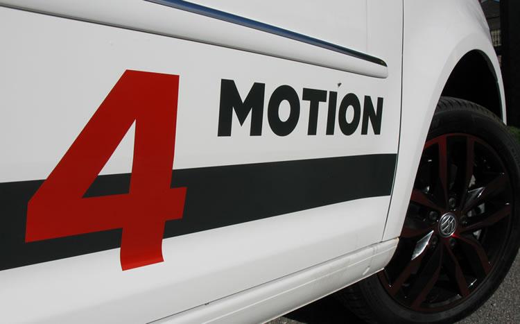 """Beschriftung Caddy """"4 Motion"""""""