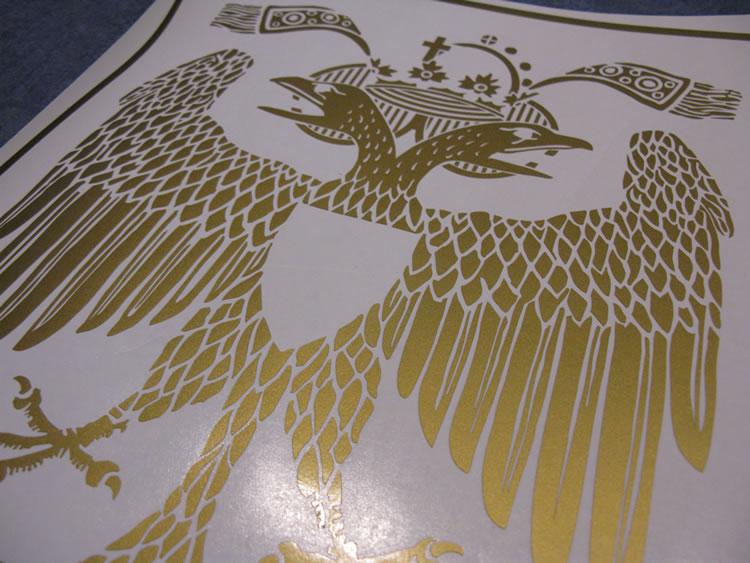 Wappen digitalisieren und aus Folie schneiden
