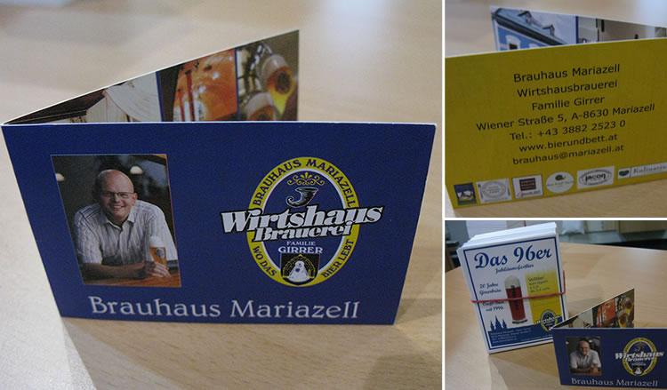Klapp-Visitkarten Brauhaus