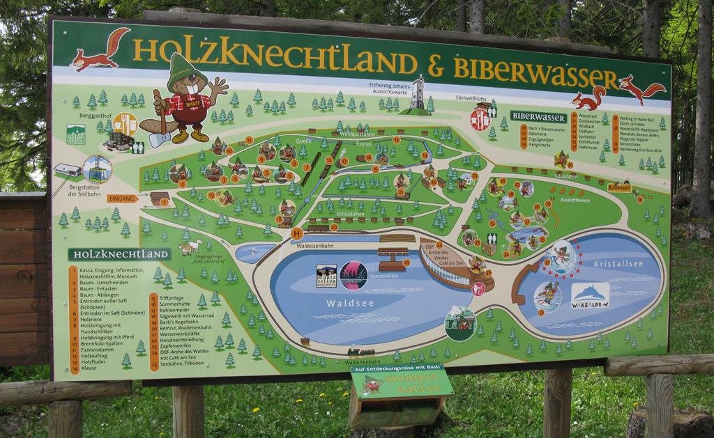 Infotafel - Holzknechtland